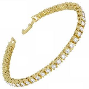 Jewelry - 14k Gold Plated Simulated Diamond Tennis Bracelet